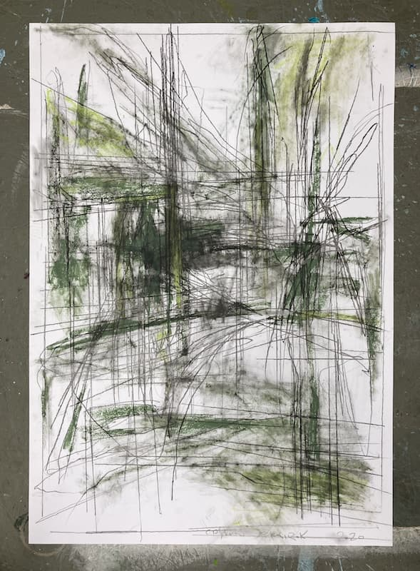 70x100cm, Graphit, Oil Stick on Paper,2020