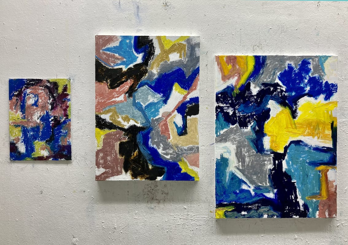 each, oil stick, acrylic on canvas, 2020